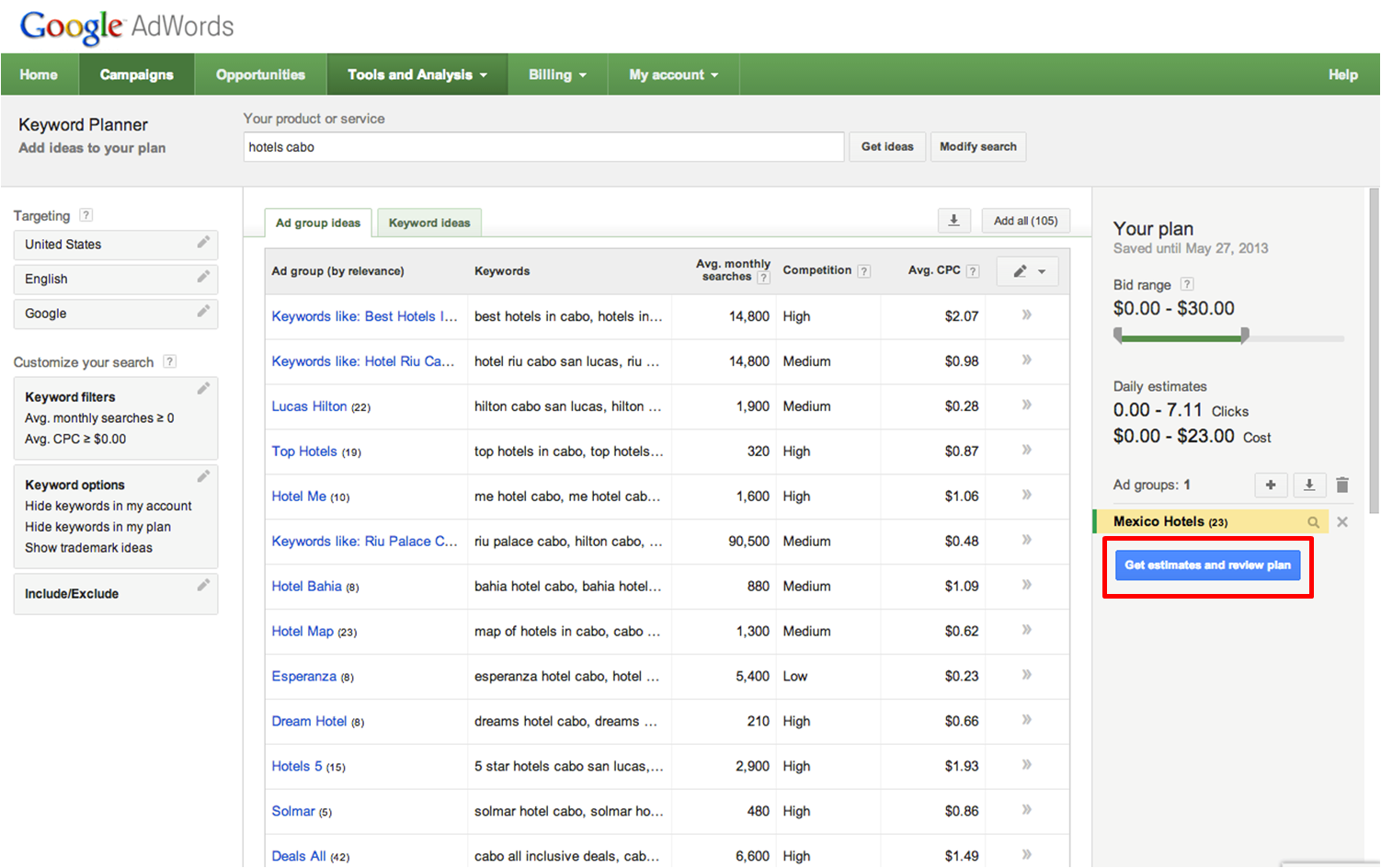 Google Keyword Tool has Replaced By Keyword Planner