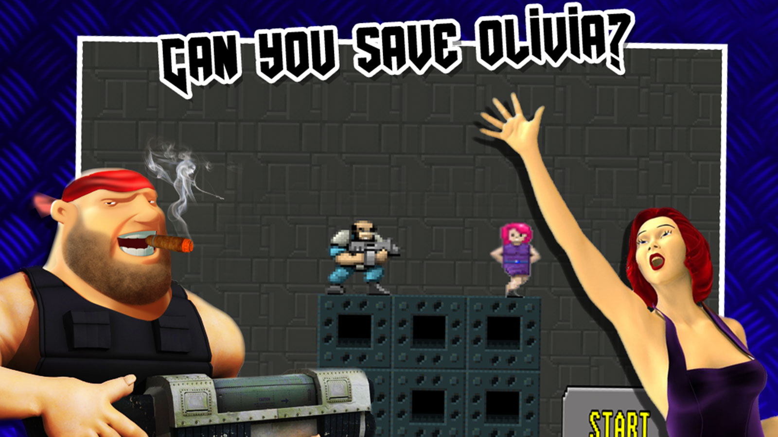 Go crazy shooting with Save Olivia, a 2D shooting game